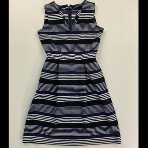 Madewell Blue Gallerist Ponte Stripemix Dress XS